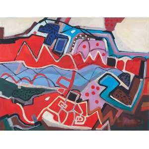 Áquila, Luiz - Sem Título - Acrílica s/ tela - 100 x 130 cm - ass. inferior direito e verso - dat. 1990
