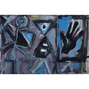 Iberê Camargo - Sem Título - Guache s/ cartão - 47 x 70 cm - ass. inferior direito