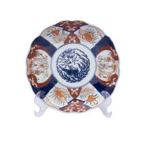 ARTISTA DESCONHECIDO - Medalhão de porcelana Japonesa Imari, 21 cm de diâmetro, Japão, séc. XIX