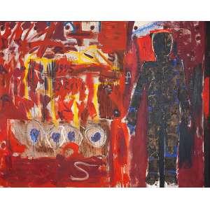 SIRON FRANCO - Situação - Óleo s/ tela, 160 x 200 cm, ass. verso, dat. 1995