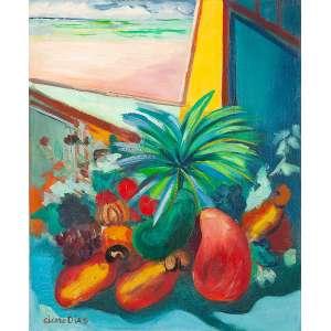CICERO DIAS - Natureza Morta - Óleo s/ tela, 46 x 38 cm, ass. inferior esquerdo, déc. 60. Registrado na catalogação do artista