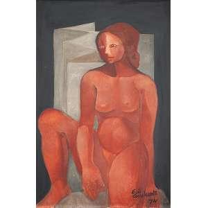 DI CAVALCANTI, EMILIANO - Figura - Óleo s/ tela, 80 x 55 cm, ass. inferior direito e verso, dat. 1974