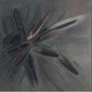 FLEXOR, SAMSOM - Sem Título - Óleo s/ tela, 120 x 120 cm, ass. inferior direito, dat. 1960