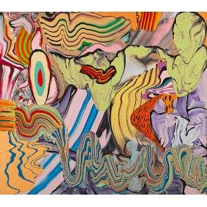 HENRIQUE OLIVEIRA - Sem Título - Acrílica s/ tela, 150 x 170 cm, ass. verso, dat. 2011