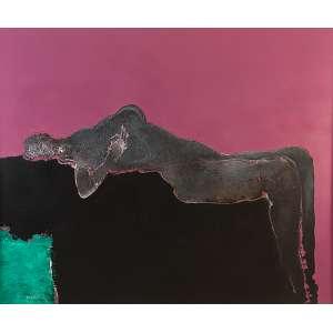MABE, MANABU - Sem Título - Óleo s/ tela, 152 x 180 cm, ass. inferior esquerdo, dat. 1973. Registrado no Instituto Mabe Manabu