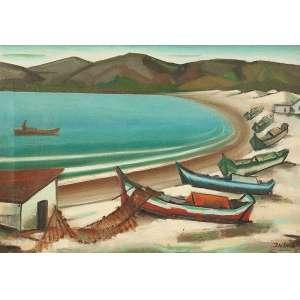 INIMA DE PAULA - Marinha, óleo s/ tela, 50 x 75 cm, ass.