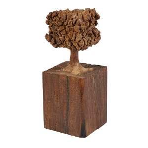 JOSÉ BENTO - Árvore, escultura de madeira, 30 cm de altura, ass.