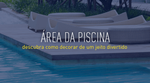 area de piscina com deck