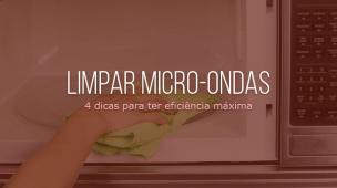 como limpar micro-ondas