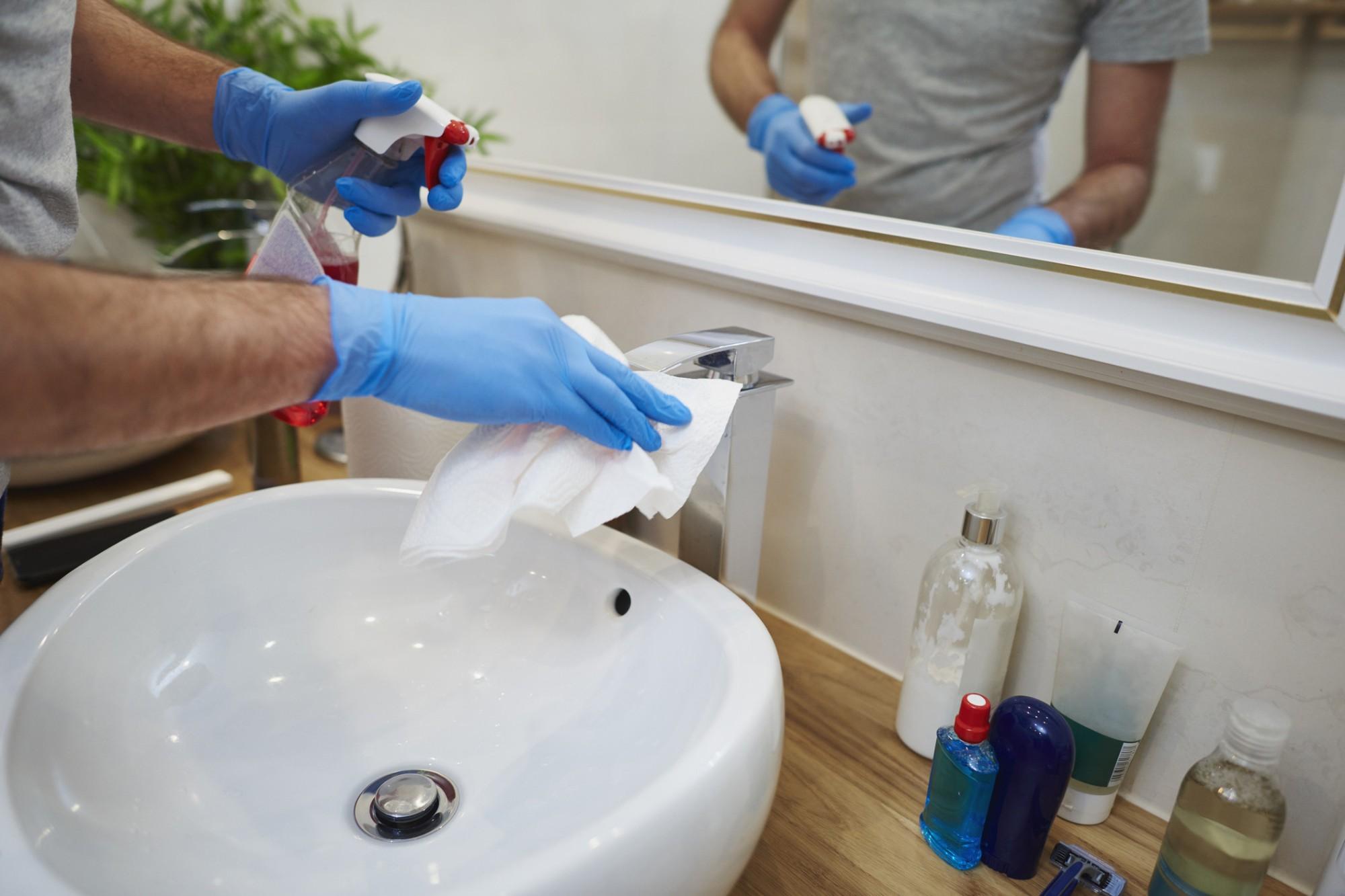 limpeza do banheiro