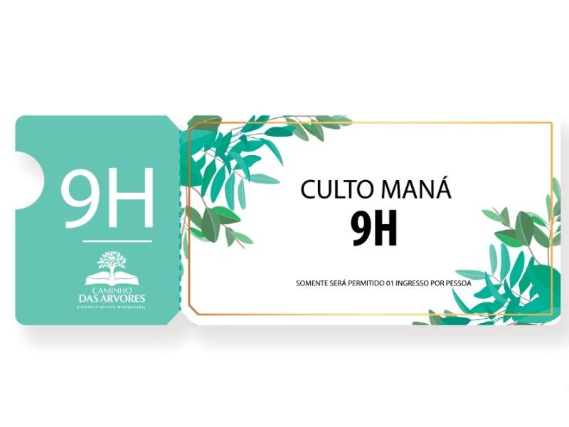 CULTO MANÁ - 9h