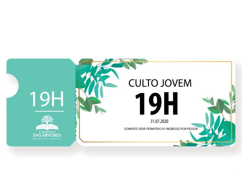 CULTO DOS JOVENS- 19h