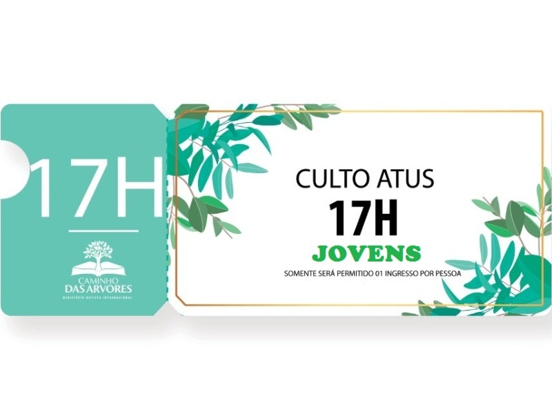 CULTO DOS JOVENS- 17h