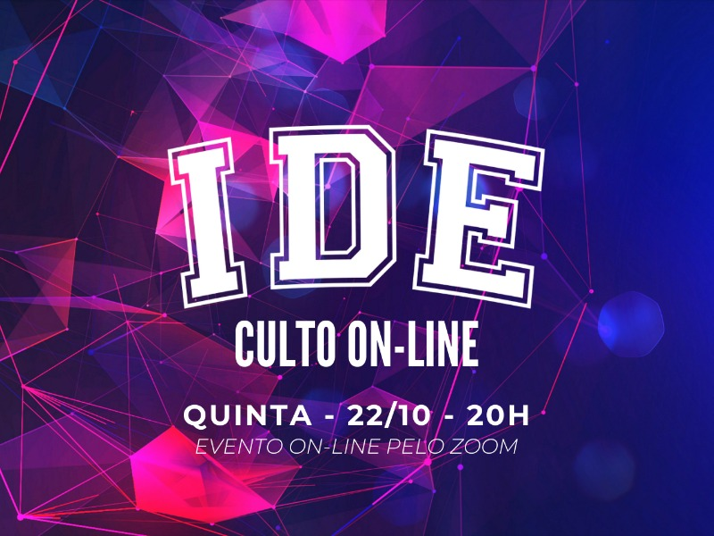 CULTO IDE ON-LINE