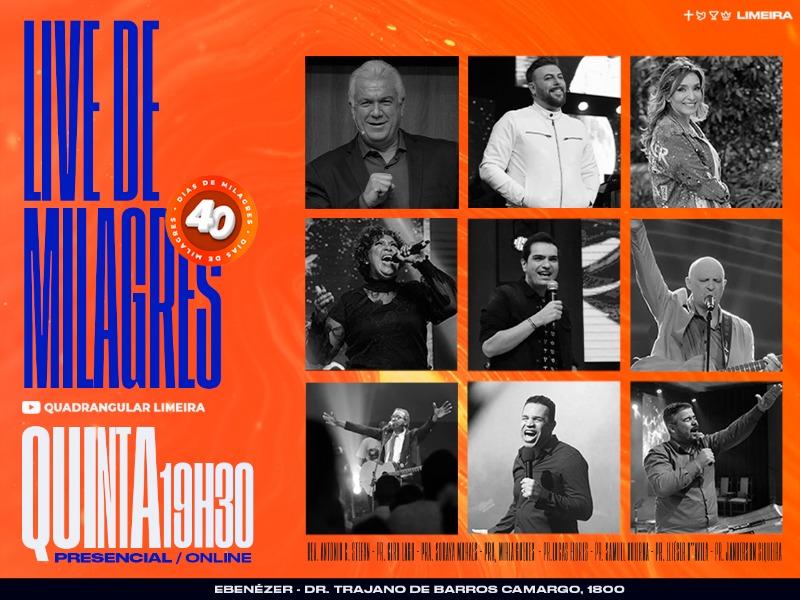 Live de Milagres | Quinta 19h30