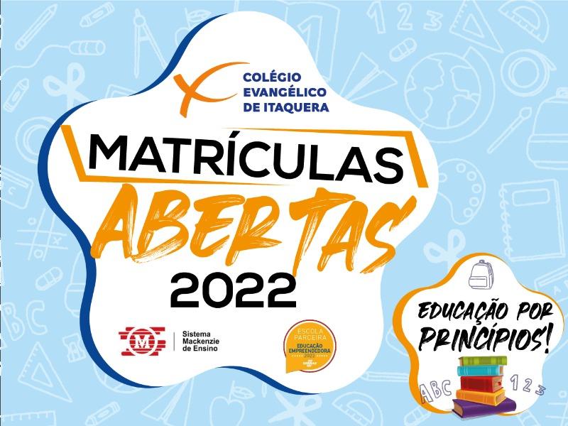 MATRÍCULAS ABERTAS - 2022