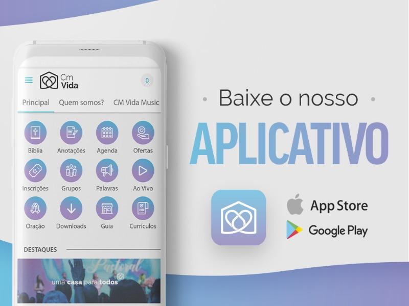 Novo site e app da Comunidade Vida!