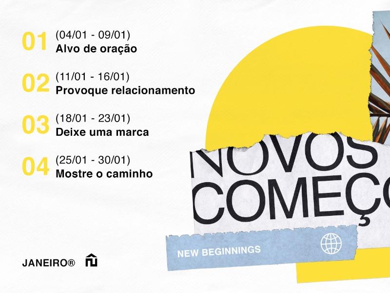 AÇÕES // NOVOS COMEÇOS