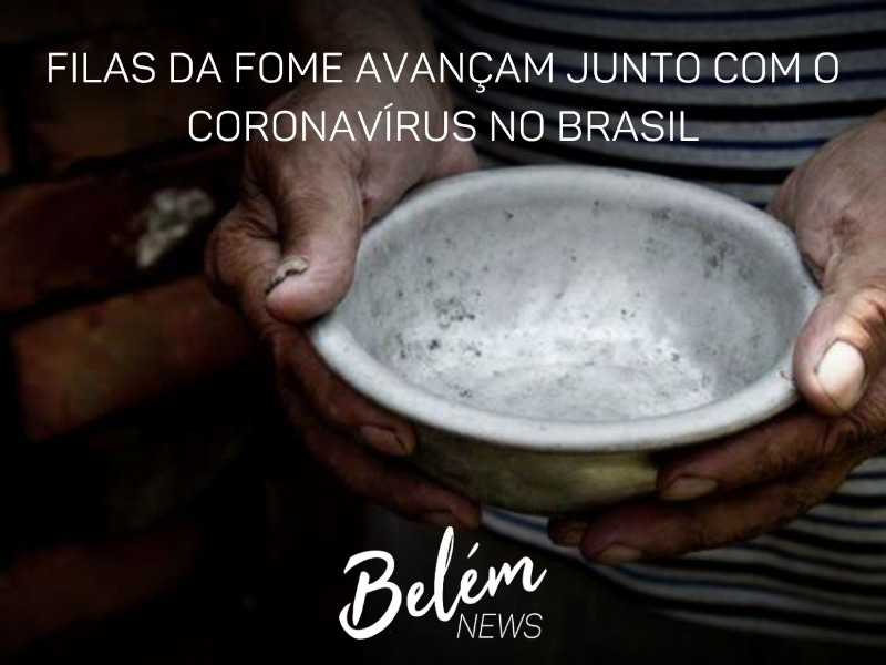 Filas da fome avançam pelo Brasil