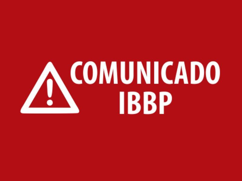 Atividades Presenciais Suspensas na IBBP