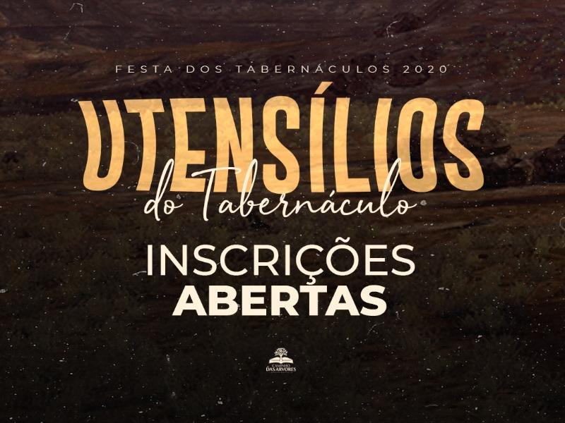 INSCRIÇÕES FESTA DOS TABERNÁCULOS 2020