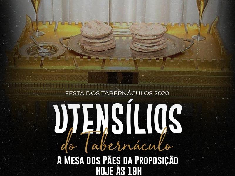 4° DIA DA FESTA DOS TABERNÁCULOS 2020