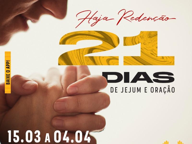 Haja redenção!  21 dias de jejum e oração