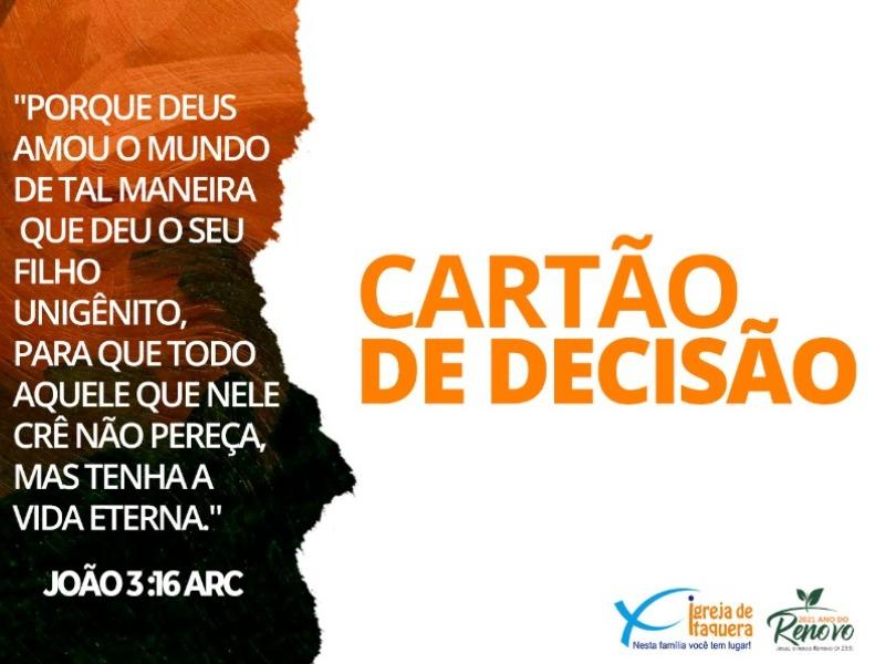 CARTÃO DE DECISÃO