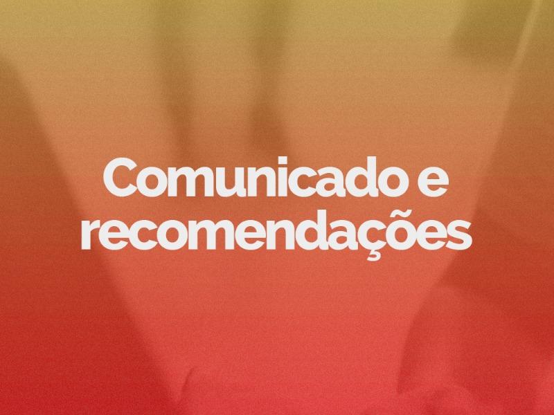 COMUNICADO OFICIAL: decreto do Governo do Paraná