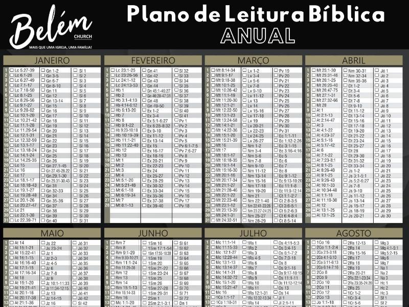 Plano de Leitura Bíblica - ANUAL