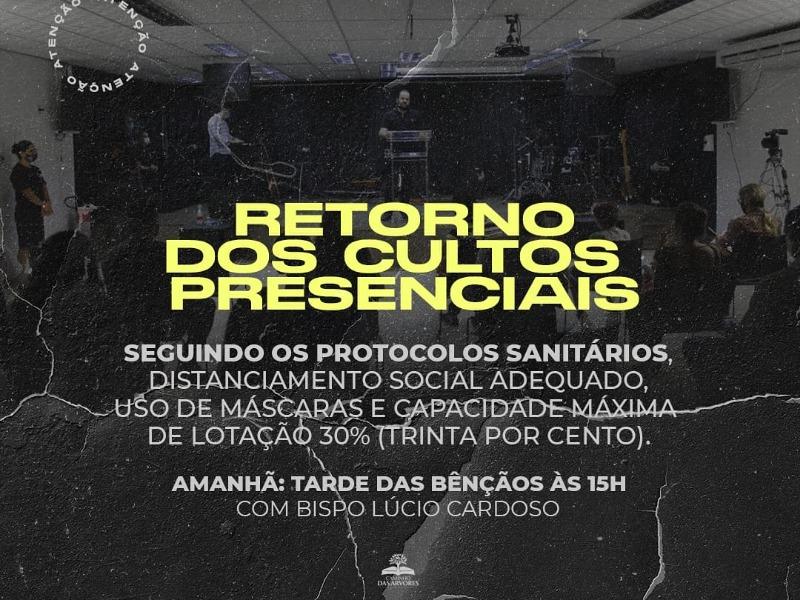 RETORNO CULTOS PRESENCIAIS