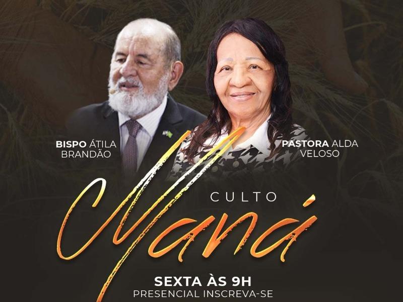 CULTO MANÁ PRESENCIAL 07/08
