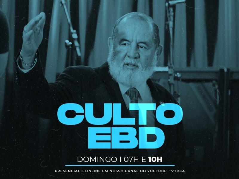 CULTO EBD 18/10