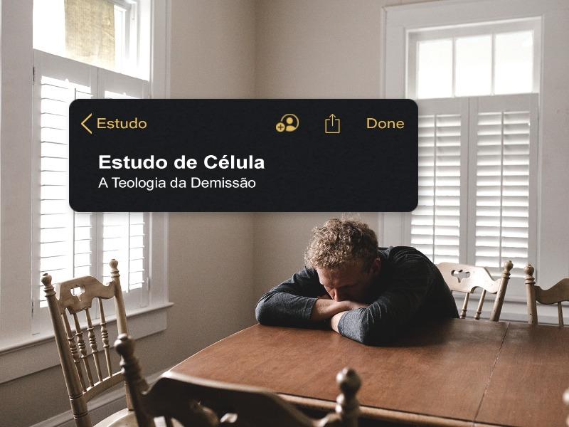 A TEOLOGIA DA DEMISSÃO