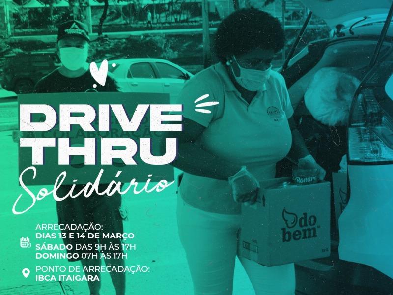 DRIVE-THRU SOLIDÁRIO 13  E 14/03