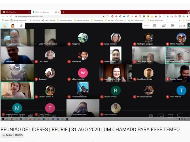 Reunião lideres Recrie 31/ago