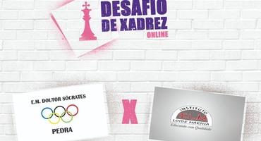 Doutor Sócrates e Loide Martha abrem hoje (27/6), às 11h, o Desafio Online de Xadrez do Intercolegial 2020