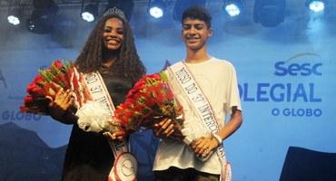 Em ponto alto do Festival do 37° Intercolegial Sesc O GLOBO, Wulliana e Marcos Vinícius são eleitos os musos do Inter 2019