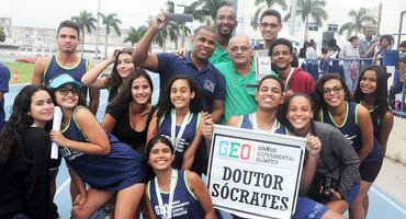 GEO Sócrates, de Guaratiba, pula de um para quatro títulos e faz a melhor campanha do atletismo