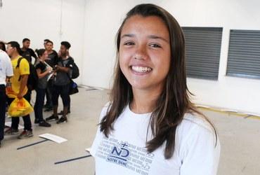 Atleta do Notre Dame e do Flamengo, Juliana curte a resenha dos churrascos e a altinha na praia