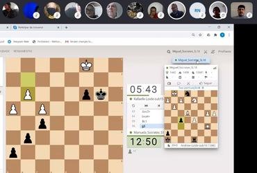 Doutor Sócrates e Loide Martha vencem dois confrontos cada um na estreia do Desafio Online de Xadrez
