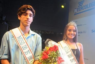 Isabelle e Joaquim, atletas do basquete, são coroados como musos do Intercolegial 35 anos