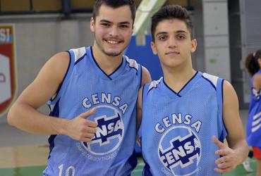 Responsável por 29 pontos do Censa, dupla da escola de Campos tem papel fundamental no título do basquete sub-18 não federado