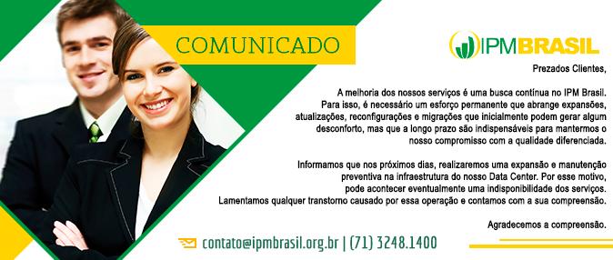 COMUNICADO - MANUTENÇÃO