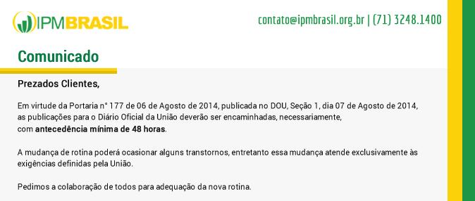 Portaria DOU 2014