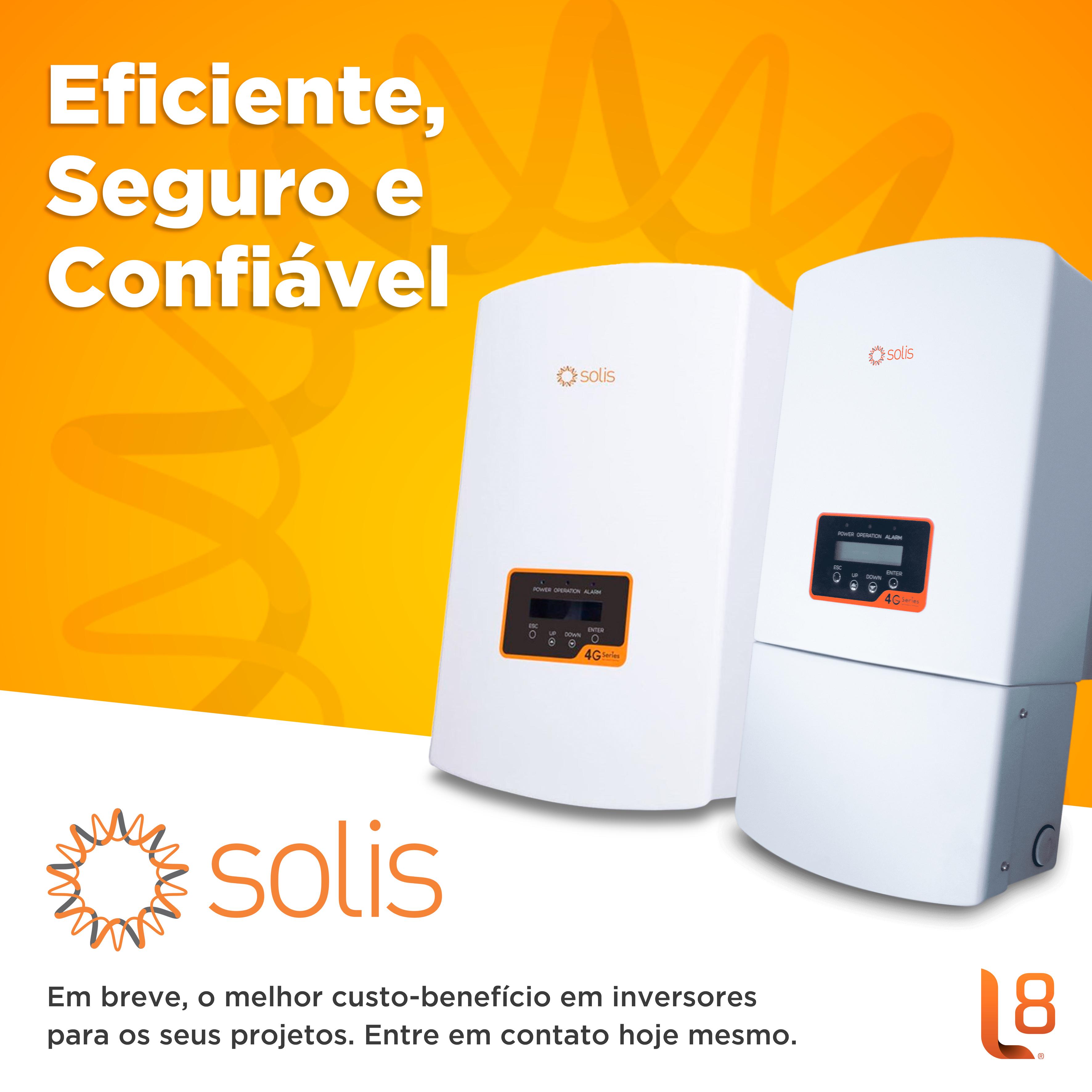 Inversor Solis – eficiente, seguro e confiável.