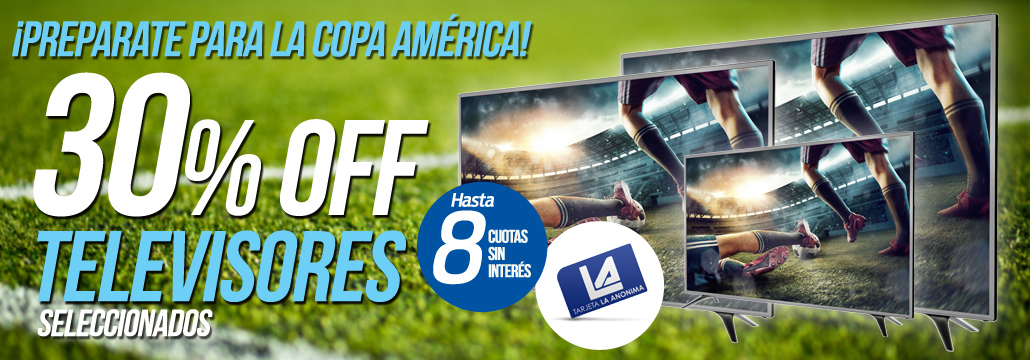 30% TV Copa America