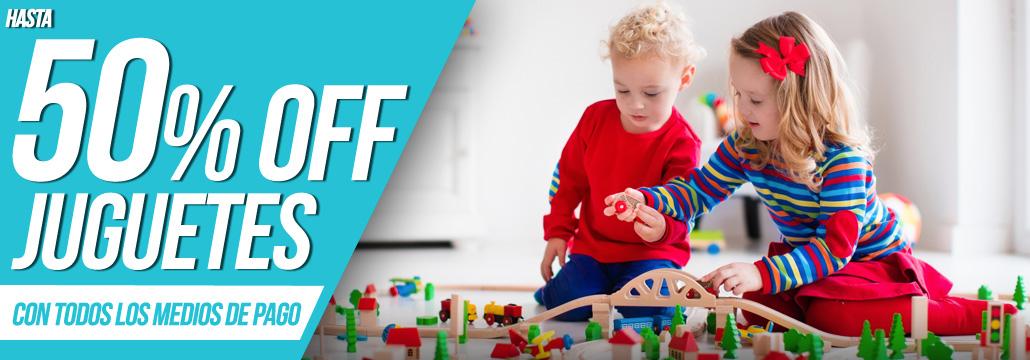 50% juguetes