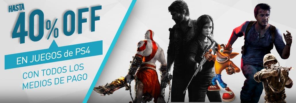 40 % juegos PS4