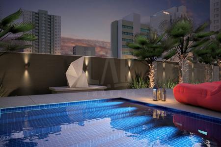 Excelente Localização Previsão de entrega : Outubro / 2017 Prédio : Fachada aerado totalmente revestida em porcelanato , guarita , hall social , 02 elevadores , piscina com raia e deck , espaço gourmet , fitness center , sauna com descanso, captação de água pluvial , medição individual de água , aquecimento solar, bicicletário, 03 vagas de garagem livres separadas número 3 , 37 cobertas e 40 Descoberta  Apartamento:Área de aproximadamente 83,40 m², Sala para 02 ambientes com piso em porcelanato. 03 quartos piso em laminado. Bahno social e suíte com bancada em granito .Cozinha planejada com bancada em granito, Área de serviço. Área privativa descoberta de 39,67 m².    Atualizado em 11/12/2017.